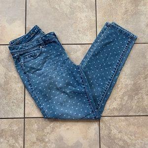 Lauren Conrad Heart Print Cropped Jeans